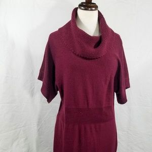 Jones New York Maroon Cowl Neck Sweater Dress, SzL